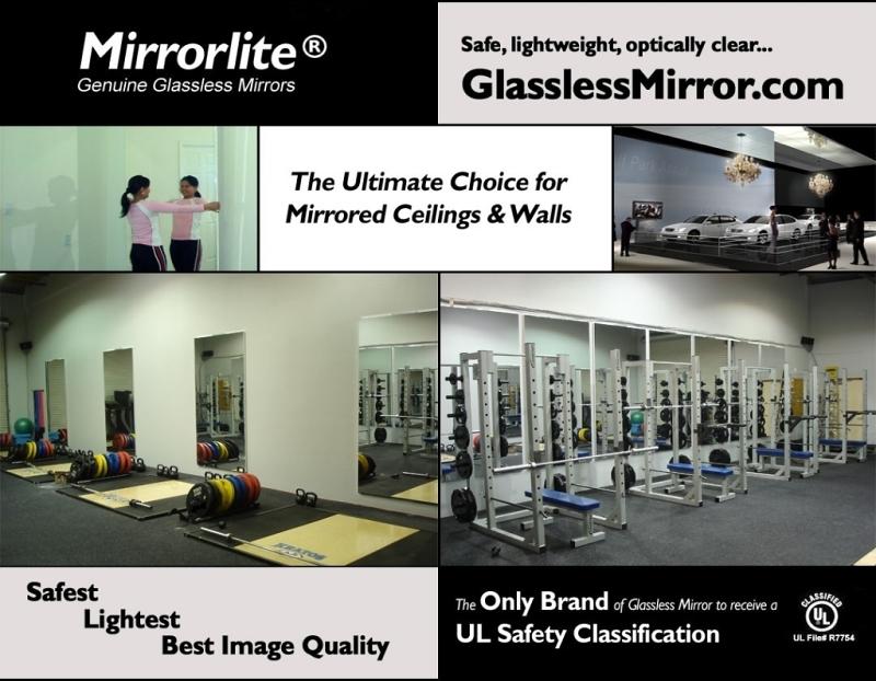 Mirrorlite Glassless Mirrors Shatterproof Mirrors Mylar Mirrors